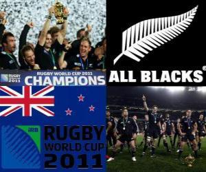 Rompicapo di Nuova Zelanda, campione del mondo di rugby. Campionato Mondiale di Rugby 2011