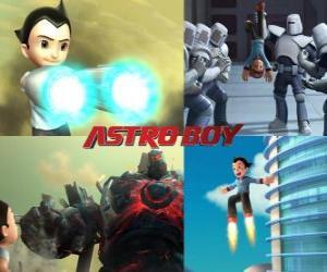 Rompicapo di O Astro Boy AstroBoy, combattendo i suoi nemici