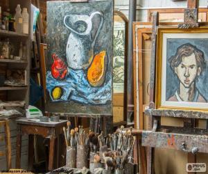 Rompicapo di Officina di artista pittore