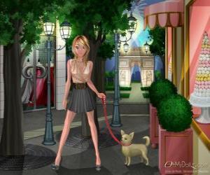 Rompicapo di Oh My Dollz, passeggiate con il cane