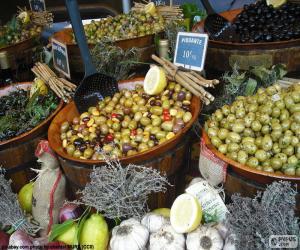 Rompicapo di Olive alla rinfusa