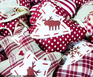 Rompicapo di Ornamenti di Natale, tessuto