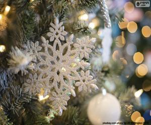 Rompicapo di Ornamento del fiocco di neve