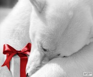 Rompicapo di Orso polare con un regalo
