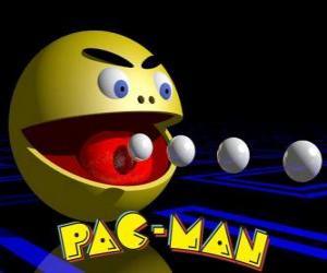 Rompicapo di Pac-Man mangia palle con il logo