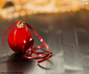 Rompicapo di Palla di Natale e nastro adesivo