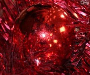 Rompicapo di Palla di Natale rosso