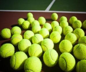 Rompicapo di Palle da tennis sul campo