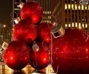 Rompicapo di Palle di Natale rosso