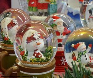 Rompicapo di Palle di neve di vetro