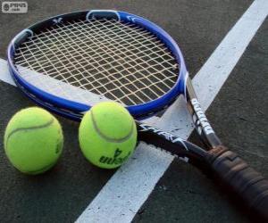 Rompicapo di Palline e racchette da tennis