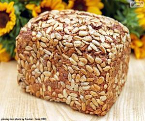 Rompicapo di Pane di semi di girasole