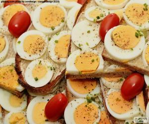 Rompicapo di Pane tostato dell'uovo