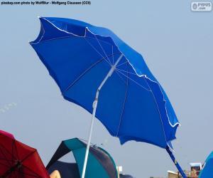 Rompicapo di Parasole blu