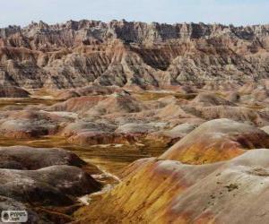 Rompicapo di Parco nazionale di Badlands, Stati Uniti