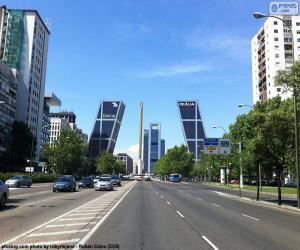 Rompicapo di Paseo de la Castellana, Madrid