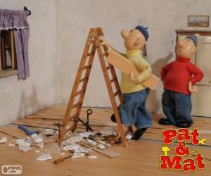 Rompicapo di Pat e Mat facendo un lavoro