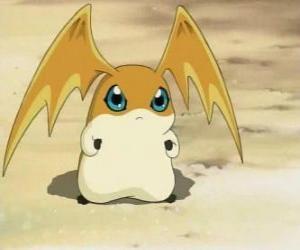 Rompicapo di Patamon è il partner Digimon di TK, è un Digivolution di Potomon e Tokomon