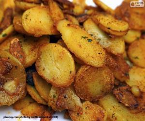 Rompicapo di Patatine fritte affettate