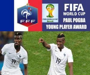 Rompicapo di Paul Pogba, premio giovane giocatore. Mondiali di calcio Brasile 2014