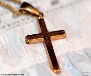 Rompicapo di Pendente croce in oro