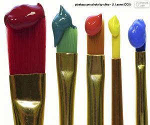 Rompicapo di Pennelli colorati