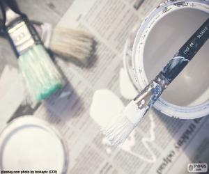 Rompicapo di Pennelli e pittura