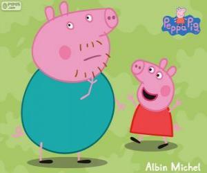 Rompicapo di Peppa Pig con suo padre
