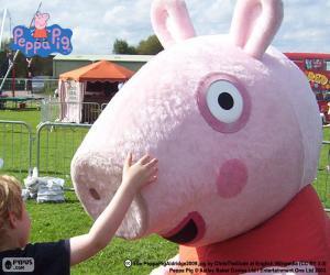 Rompicapo di Peppa Pig con un bambino