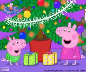 Rompicapo di Peppa Pig e George a Natale