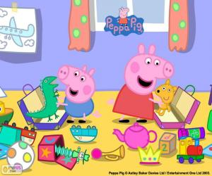 Rompicapo di Peppa Pig e George