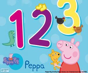 Rompicapo di Peppa Pig e i numeri
