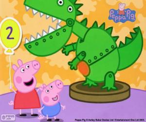 Rompicapo di Peppa Pig e il dinosauro