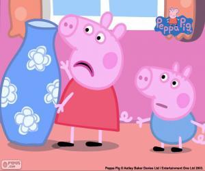 Rompicapo di Peppa Pig e il vaso blu