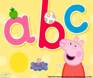 Rompicapo di Peppa Pig e le lettere abc