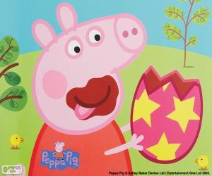 Rompicapo di Peppa Pig mangiare un uovo