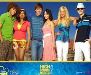 Rompicapo di Personaggi principali da High School Musical 2