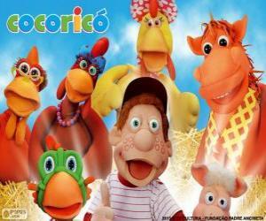 Rompicapo di Personaggi principali della fattoria di Cocorico