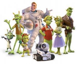 Rompicapo di Personaggi principali di Planet 51
