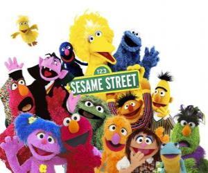 Rompicapo di personaggi principali di Sesame Street