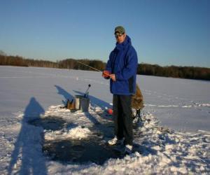 Rompicapo di Pesca nel ghiaccio