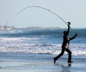Rompicapo di Pescatore sulla spiaggia