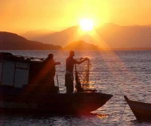 Rompicapo di Pescatori al tramonto