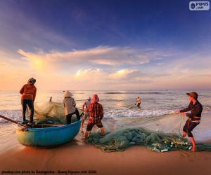 Rompicapo di Pescatori in Vietnam