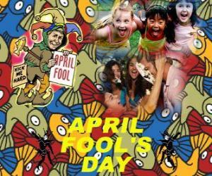 Rompicapo di Pesce d'aprile celebrato il 1 ° aprile dedicato alle barzellette in molti paesi