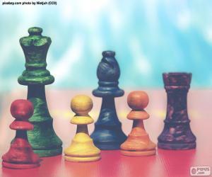 Rompicapo di Pezzi degli scacchi