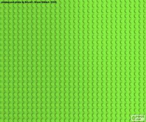 Rompicapo di Piastra base verde LEGO