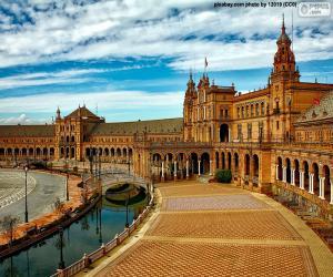 Rompicapo di Piazza di Spagna, Siviglia, Spagna