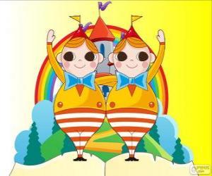Rompicapo di Pincopanco e Pancopinco, due giovani gemelli