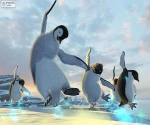 Rompicapo di Pinguini ballando in film di Happy Feet